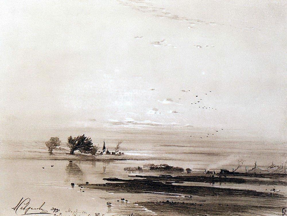 Саврасов ранняя весна половодье 1893