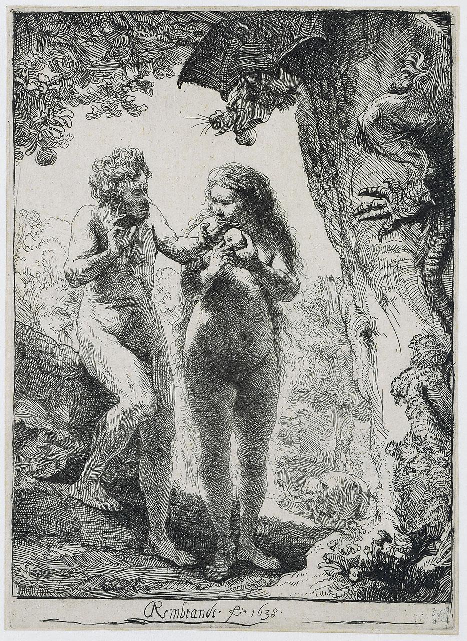 "Рембрандт ван Рейн. ""Адам и Ева"". 1638."
