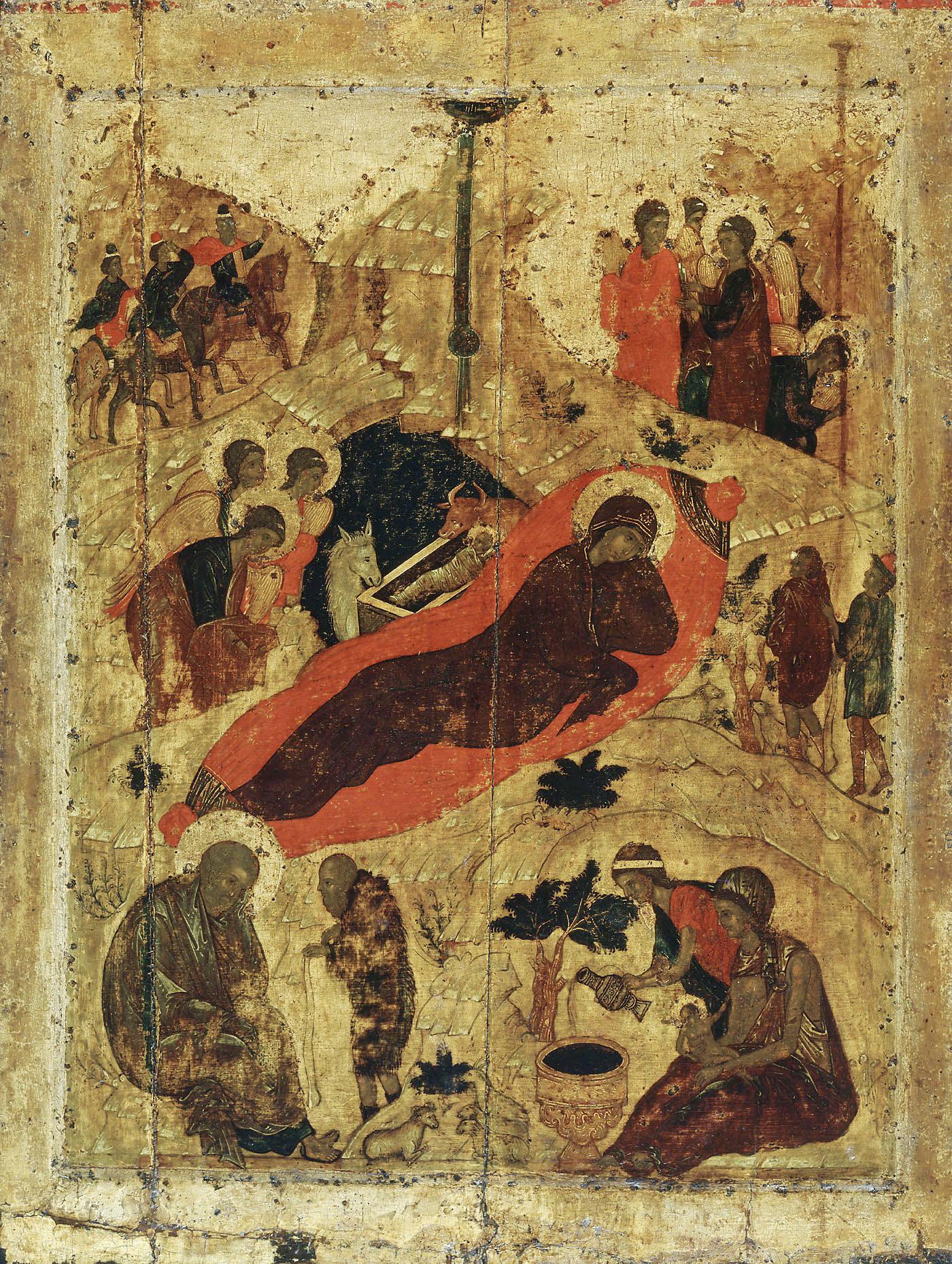 Андрей Рублёв.  Рождество Христово.  1405. Благовещенский собор Московского Кремля.