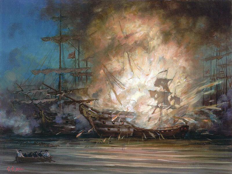 Картинка чесменское сражение