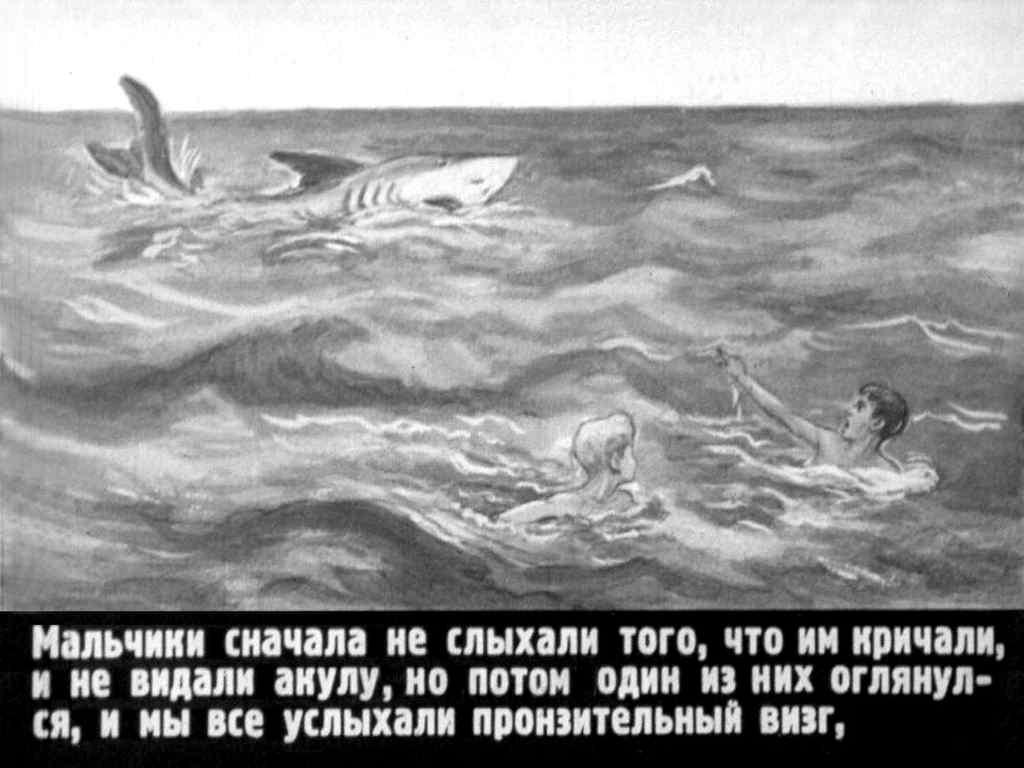 Рассказ акула л. толстой с рисунками