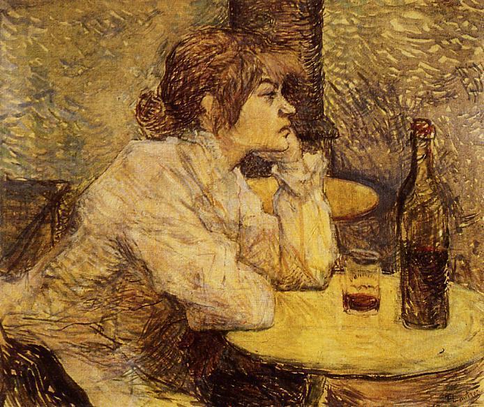 Анри де Тулуз-Лотрек. Похмелье, или Пьяница. 1888.