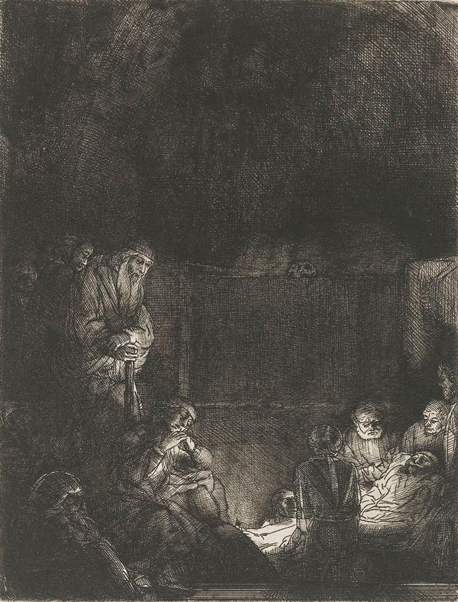Рембрандт ван Рейн. Положение во гроб. 1659.