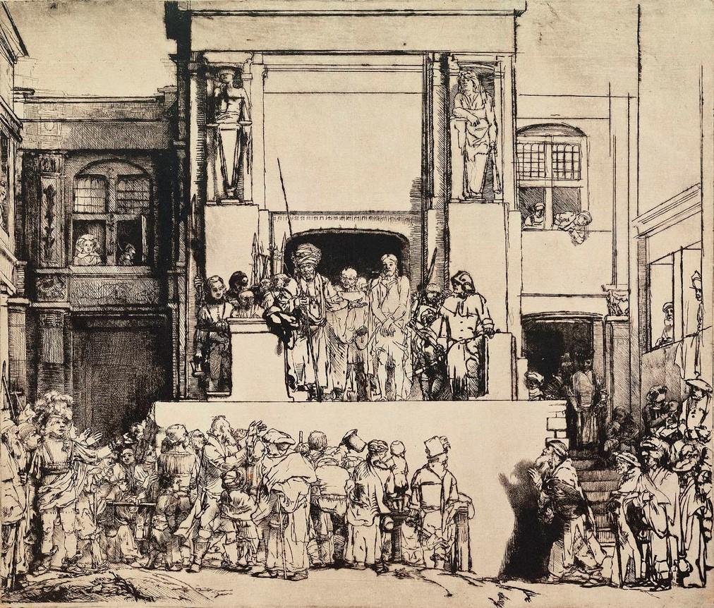 Рембрандт ван Рейн. Христос перед народом или Се человек. 1655.