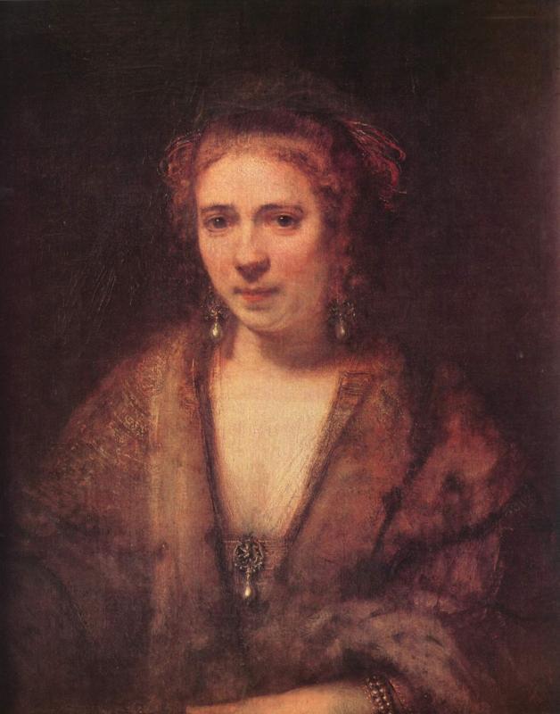 Рембрандт ван Рейн. Хендрикье Стоффельс. 1655.