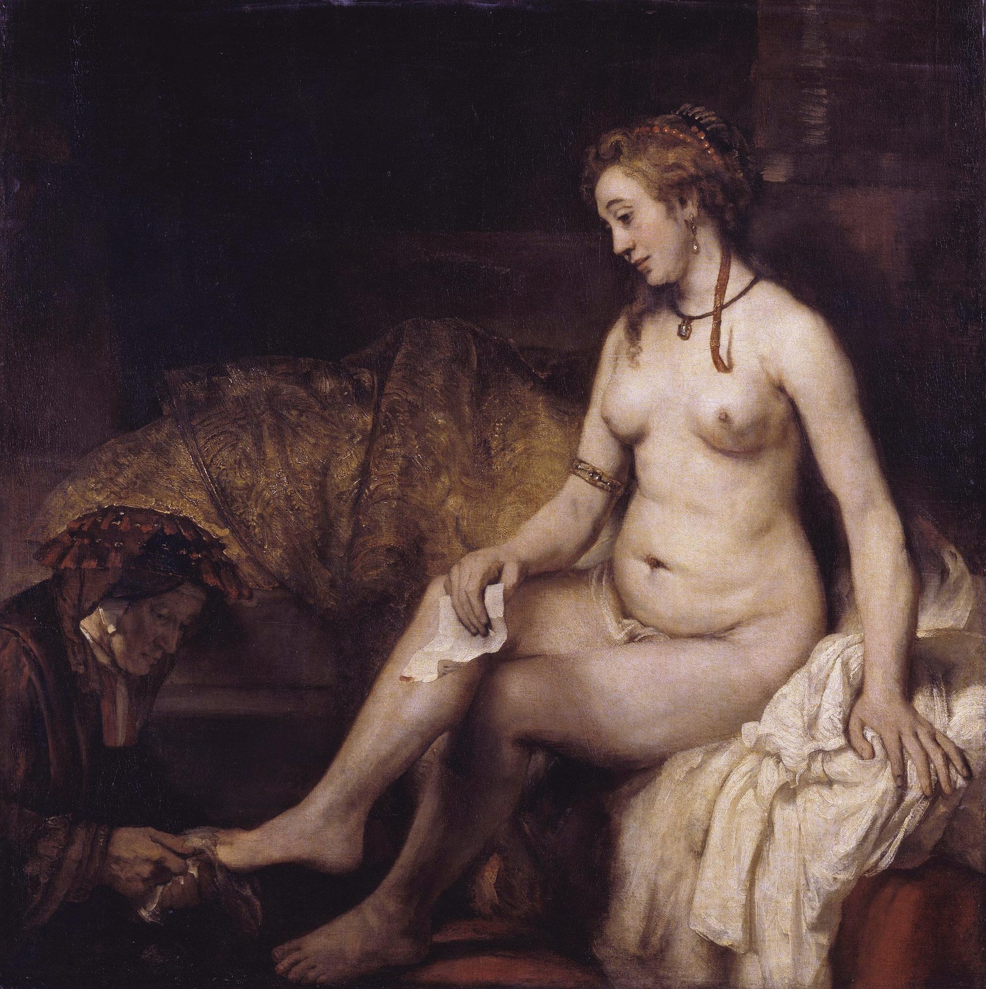 Рембрандт ван Рейн. Купание Вирсавии. 1654.
