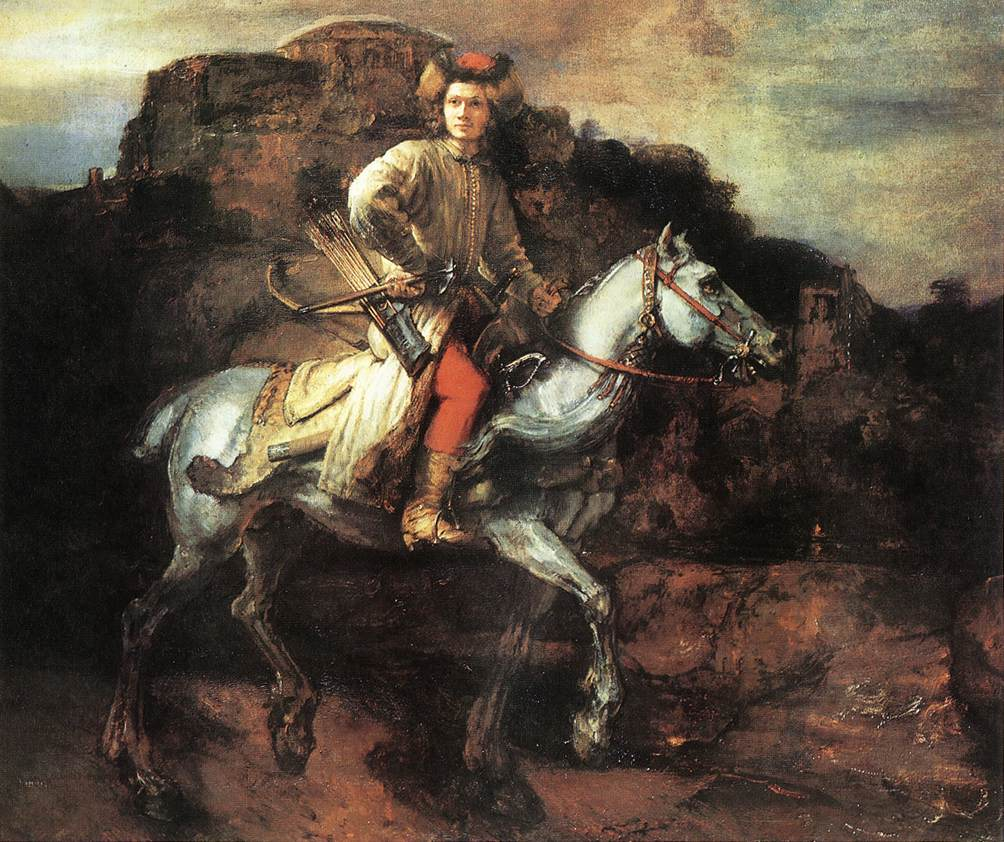 Рембрандт ван Рейн. Польский всадник. 1655.