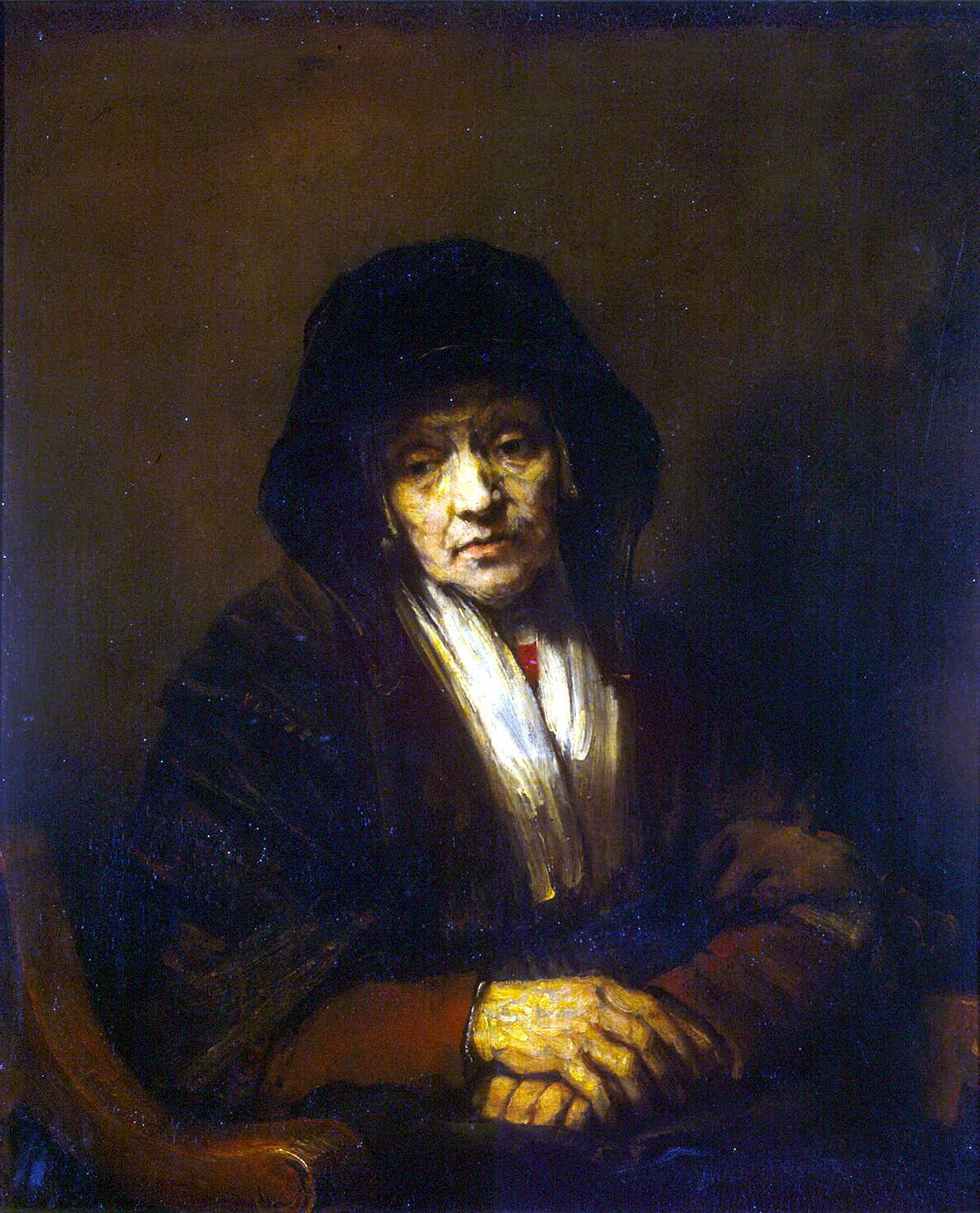 Рембрандт ван Рейн. Портрет жены брата. 1654.
