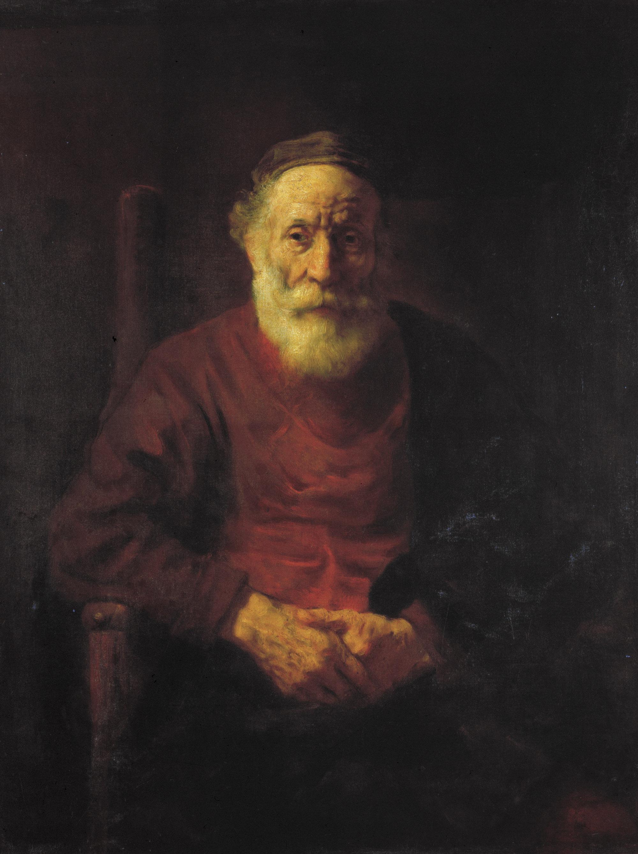 Рембрандт ван Рейн. Портрет старика в красном. Между 1652 и 1654.