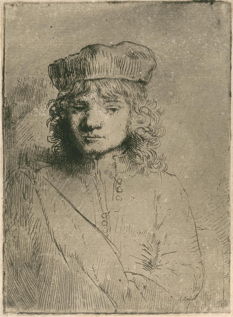 Рембрандт ван Рейн. Портрет сына художника. 1656.