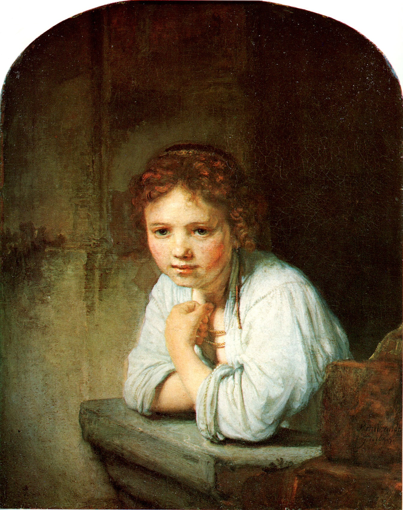 Рембрандт ван Рейн. Девушка у окна. 1645.