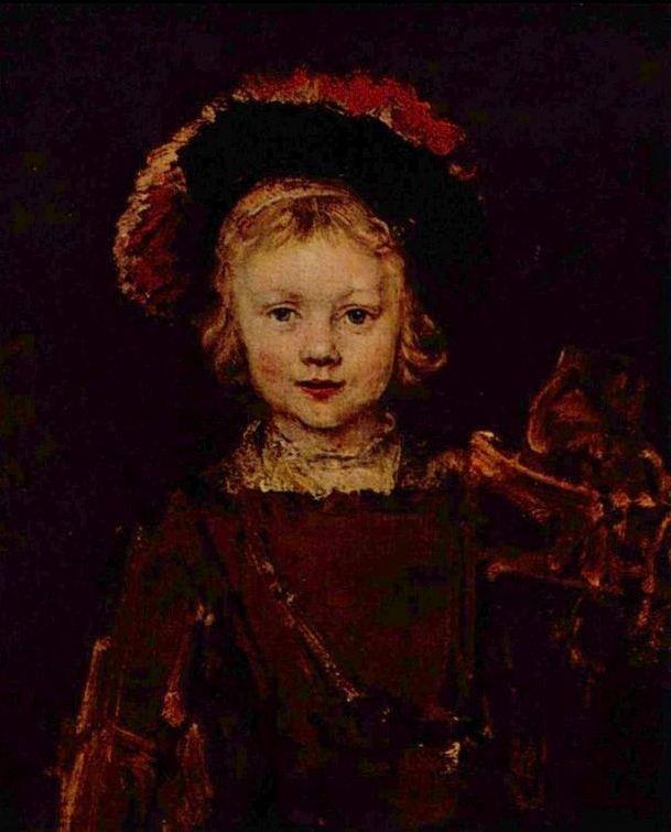 Рембрандт ван Рейн. Портрет Титуса. 1650.