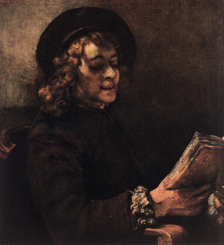 Рембрандт ван Рейн. Портрет Титуса, сына Рембрандта. 1656.