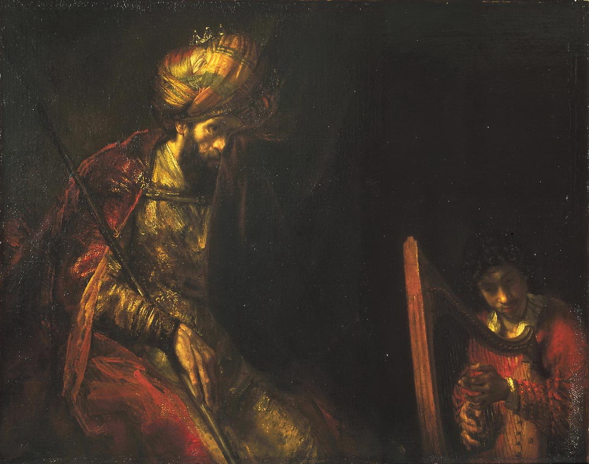 Рембранд ван Рейн. Давид и Саул. Около 1650-1655.