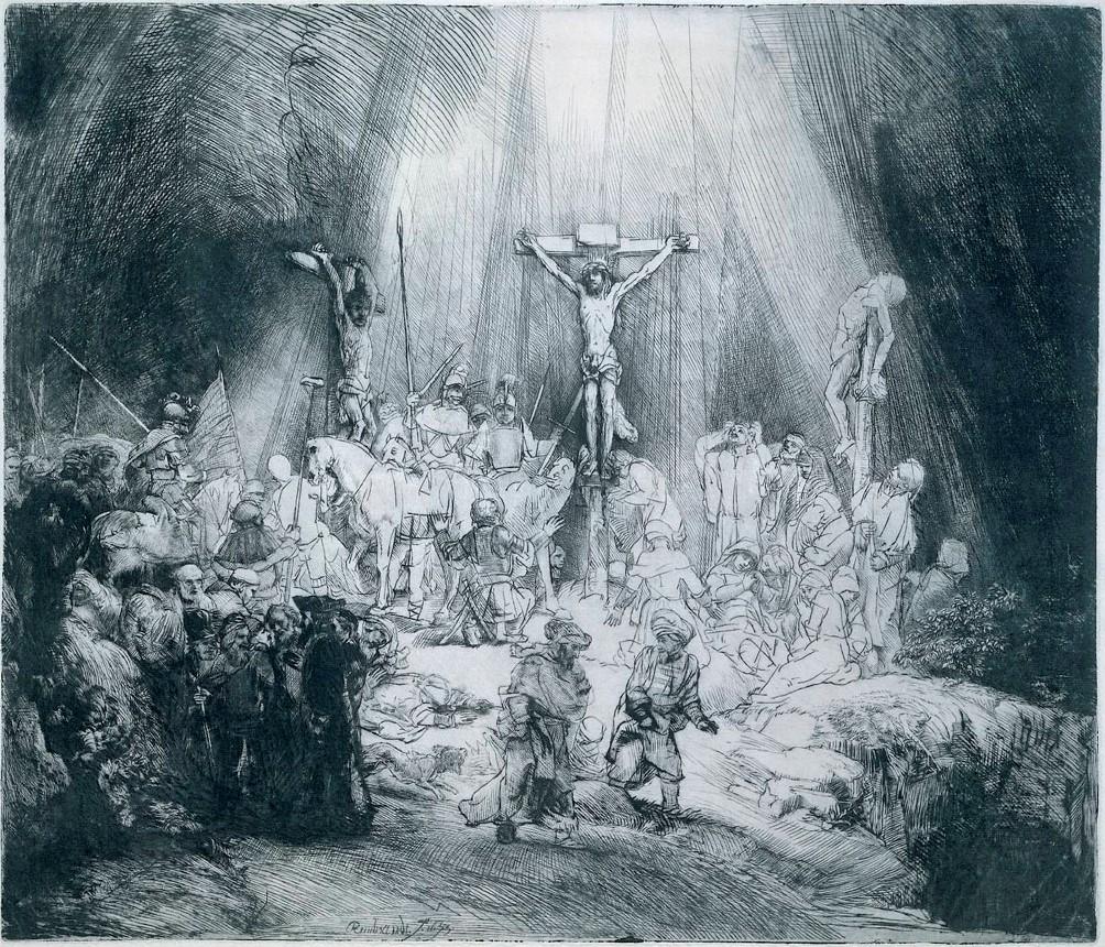 Рембрандт ван Рейн. Три креста. 1653.