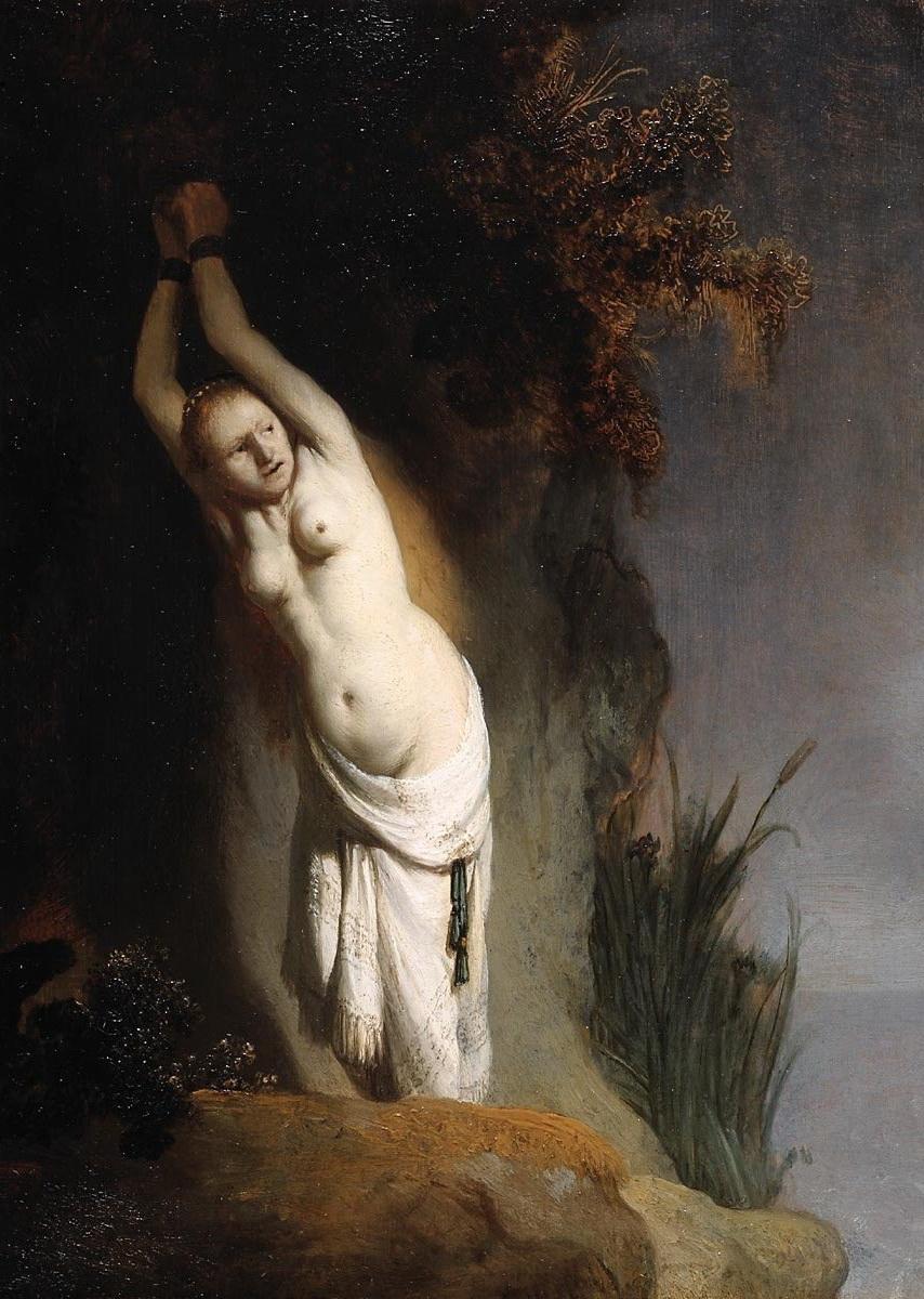 Рембрандт ван Рейн. Андромеда. Около 1629.                                       .